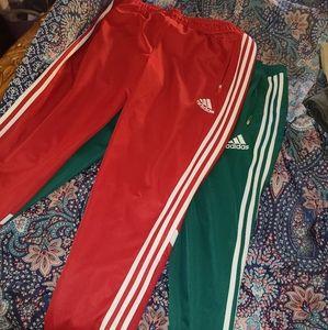 2 Adidas men track pants